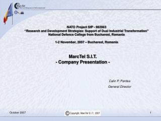 MarcTel S.I.T. - Company Presentation -