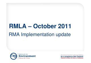RMLA � October 2011