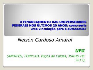 Nelson Cardoso Amaral UFG (ANDIFES, FORPLAD, Po�os de Caldas, JUNHO DE  2013)