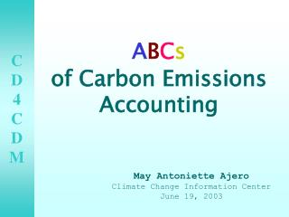 A B C s of Carbon Emissions Accounting