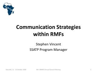 Communication Strategies  within RMFs