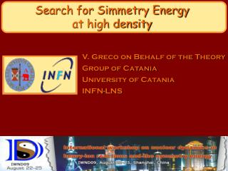 Search for Simmetry Energy  at high density