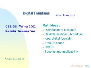Digital Fountains