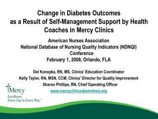 American Nurses Association  National Database of Nursing Quality Indicators (NDNQI) Conference