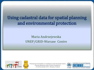 Using cadastral data for spatial planning and environmental protection