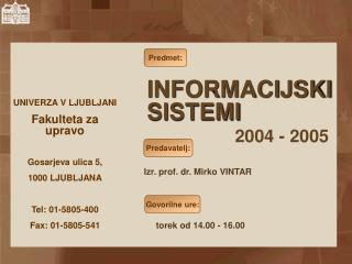 Izr. prof.  dr. Mirko VINTAR