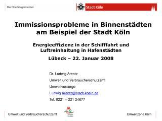 Immissionsprobleme in Binnenstädten am Beispiel der Stadt Köln