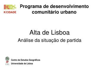 Programa de desenvolvimento comunitário urbano