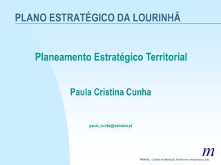 PLANO ESTRATÉGICO DA LOURINHÃ