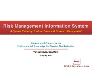 Risk Management Information System A Spatial Planning Tool for Chemical Disaster Management