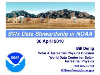 SWx Data Stewardship in NOAA