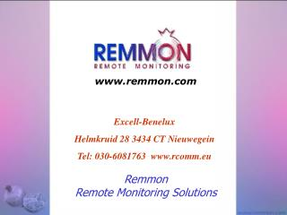 Remmon Remote Monitoring Solutions