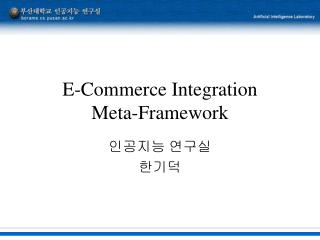 E-Commerce Integration  Meta-Framework