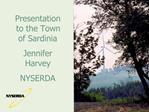 Presentation to the Town of Sardinia Jennifer Harvey NYSERDA
