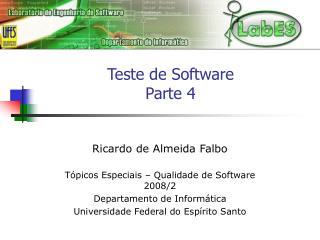 Teste de Software Parte 4