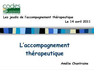 L'accompagnement  thérapeutique Amélie Chantraine