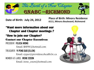The Birth of a New Chapter GNABC --RICHMOND