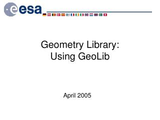 Geometry Library: Using GeoLib