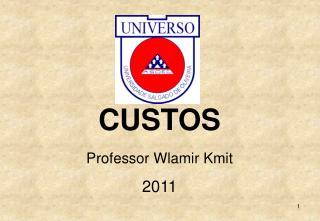 CUSTOS Professor Wlamir Kmit 2011