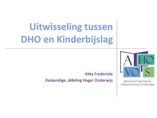 Uitwisseling tussen DHO en Kinderbijslag