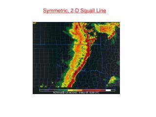Symmetric, 2-D Squall Line