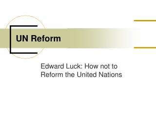 UN Reform