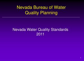 Nevada Bureau of Water Quality Planning