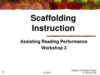 Scaffolding  Instruction