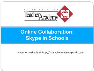 Online Collaboration: Skype in Schools