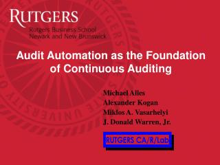 Audit Automation as the Foundation of Continuous Auditing