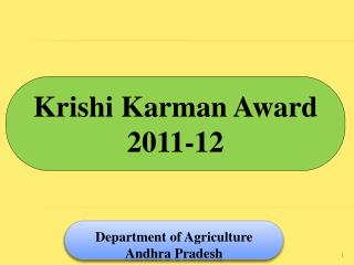 Krishi Karman Award 2011-12