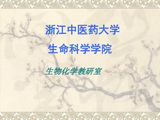 浙江中医药大学           生命科学学院