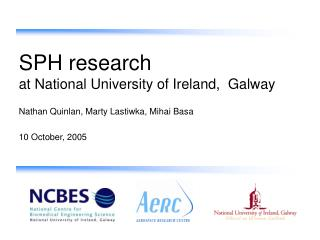 SPH research at National University of Ireland,  Galway