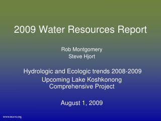 2009 Water Resources Report