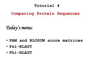 Comparing Protein Sequences