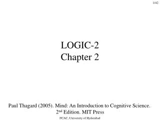 LOGIC-2 Chapter 2