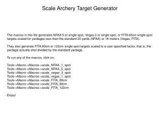 Scale Archery Target Generator