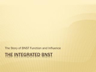 The integrated bnst