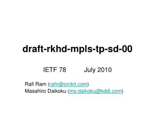 draft-rkhd-mpls-tp-sd-00