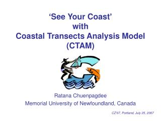 'See Your Coast' with Coastal Transects Analysis Model (CTAM)