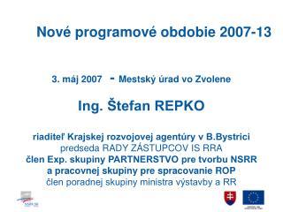 Nové programové obdobie 2007-13