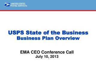 USPS State of the Business Business Plan Overview