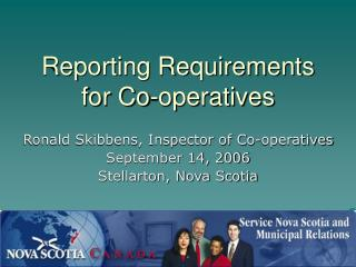 Reporting Requirements for Co-operatives