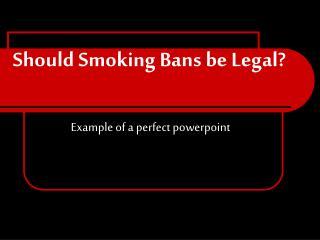 Should Smoking Bans be Legal?
