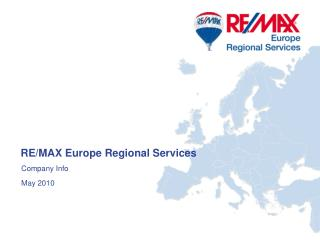 RE/MAX Europe Regional Services