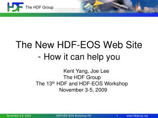 The New HDF-EOS Web Site -  How it can help you