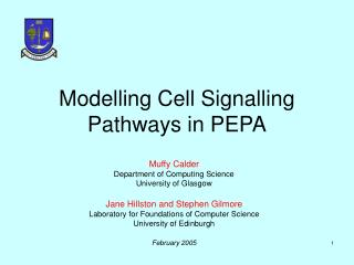 Modelling Cell Signalling Pathways in PEPA