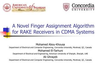A Novel Finger Assignment Algorithm for RAKE Receivers in CDMA Systems