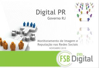 Digital PR Governo RJ