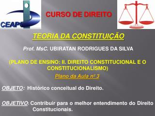 CURSO DE  DIREITO